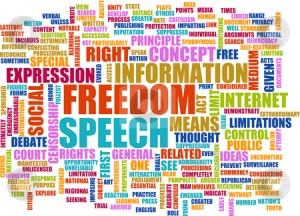 cutcaster-photo-100667002-Freedom-of-Speech