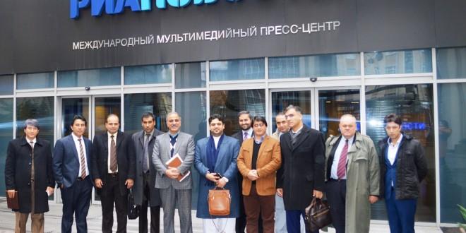 سفر رسمی شماری از مدیران رسانههای افغانستان به روسیه